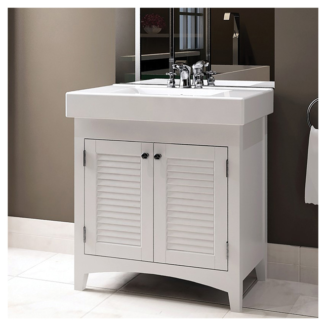 rona sinks bathroom bathroom sink vanity with reversible doors white 29 14248