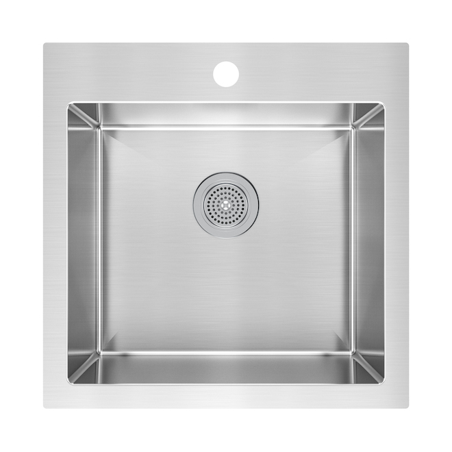 Stainless steel single kitchen sink rona - Rona comptoir de cuisine ...