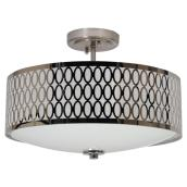 2-Light Semi-Flush Ceiling Light - Chrome