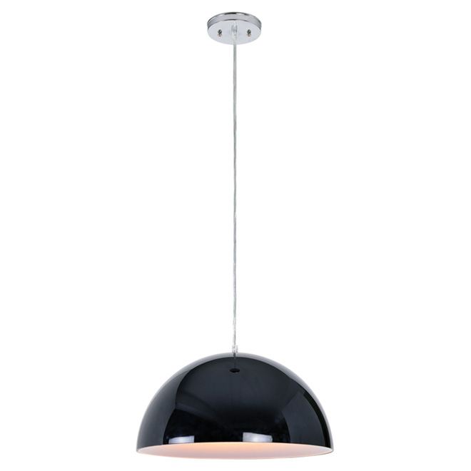 "1-Light Pendant Light - ""Glacier"" - 15 3/4"""