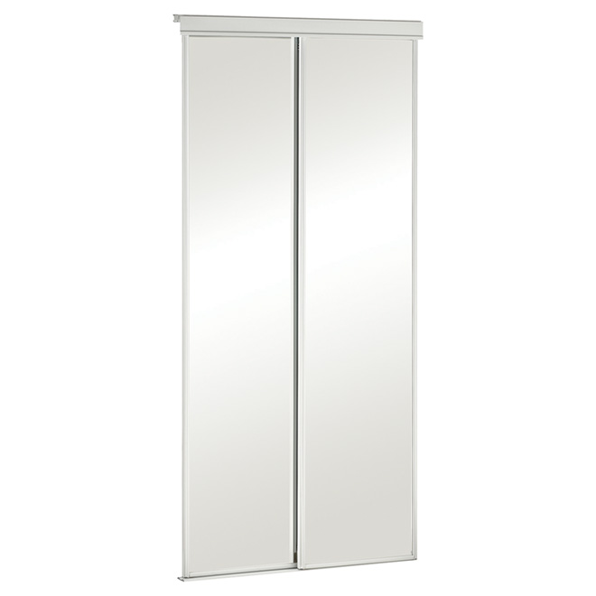 Porte miroir coulissante s rie conomique rona for Masonite porte exterieur