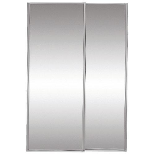 Porte miroir coulissante classic 60 po x 80 1 2 po rona for Porte coulissante 60 x 96