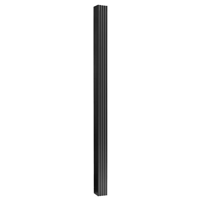 Colonne carr e en aluminium 5 1 4 x 8 39 noir rona for Colonne decorative exterieur