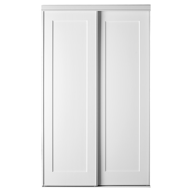 39 39 lincoln park 39 39 sliding door 48 x 80 1 2 39 39 white rona for Porte coulissante 60 x 96