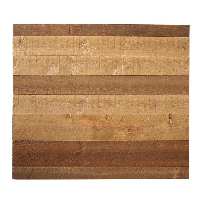 Planches murales en bois aspect grange brun rustique rona for Planche cuisine bois