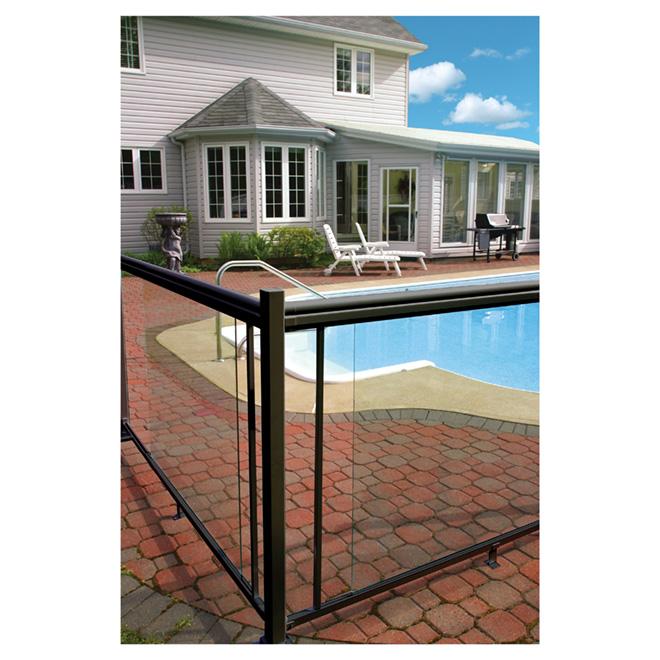 panneau de verre pour balustrade 66 po rona. Black Bedroom Furniture Sets. Home Design Ideas