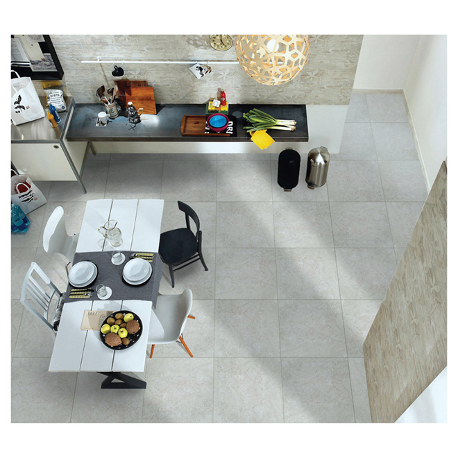"Carreaux de porcelaine, 24"" x 24"", gris"