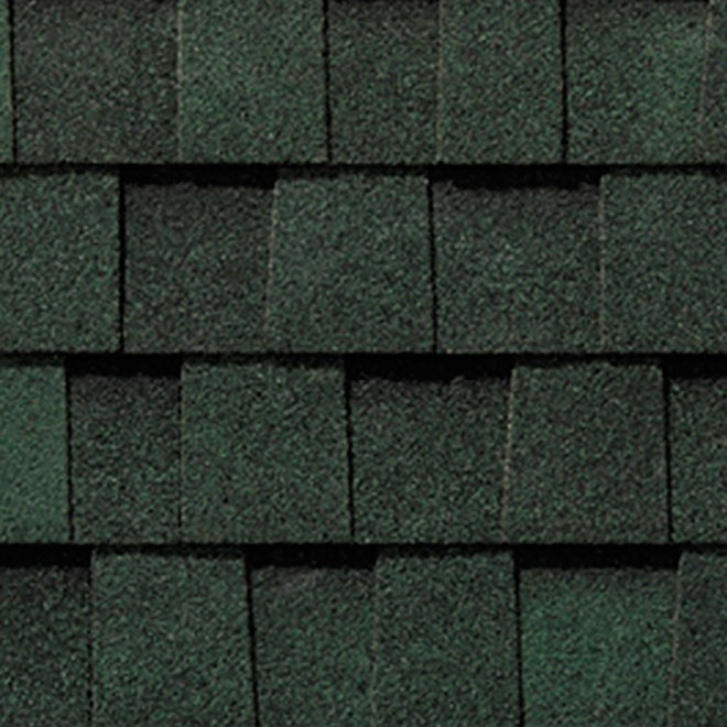 """Mystique 42"" Roofing Shingle - Boreal Green"