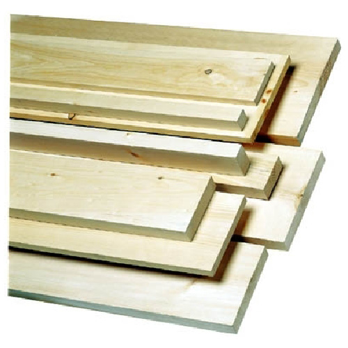 White Pine Board S4S 5/4 in x 6 in x 8 ft - Natural