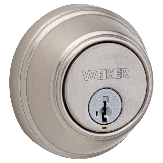 "Double Cylinder Deadbolt - ""Key Control"" - Satin Nickel"