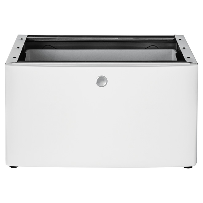 "Pedestal with Storage Drawer 27"" - White"