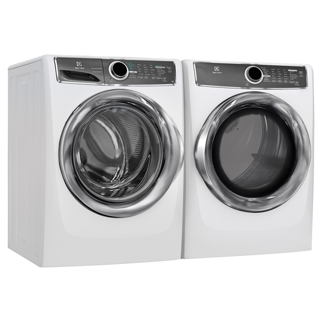 Electric Dryer with Perfect Steam(TM)- 8.0 cu.ft - White