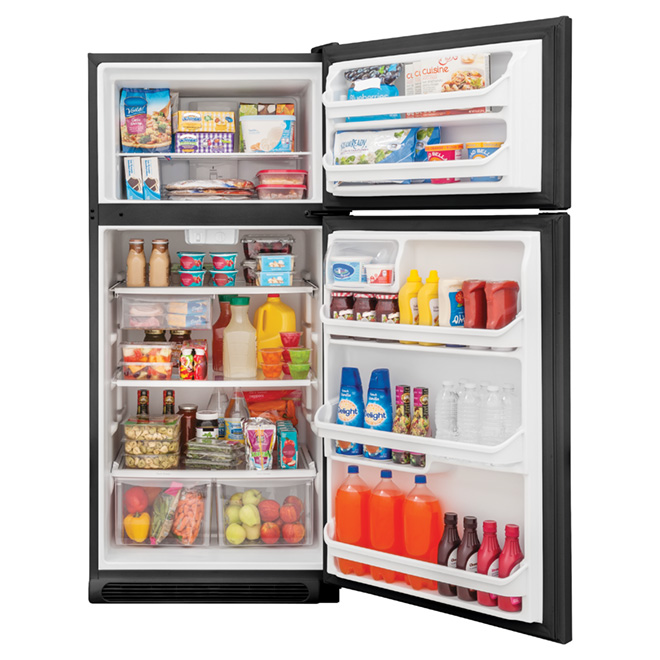 Top-Freezer Refrigerator 18 cu. ft. - Black