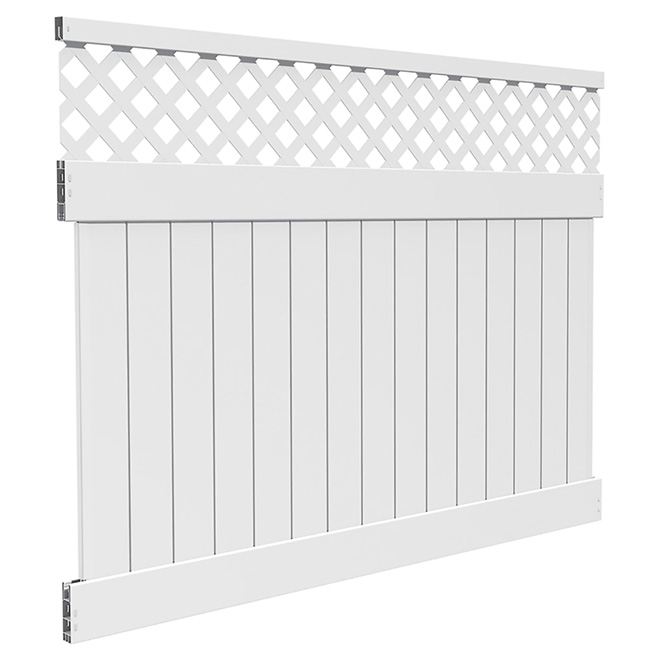 Pvc Lattice Top Fence 72 Quot X 96 Quot Rona