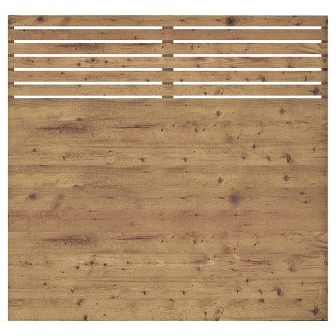 Panneau de cl ture 6 39 x 6 39 contemporain bois trait for Panneau bois exterieur leroy merlin