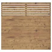 Fence Panel - 6' x 6' - Contemporary - Treated Wood - Brown