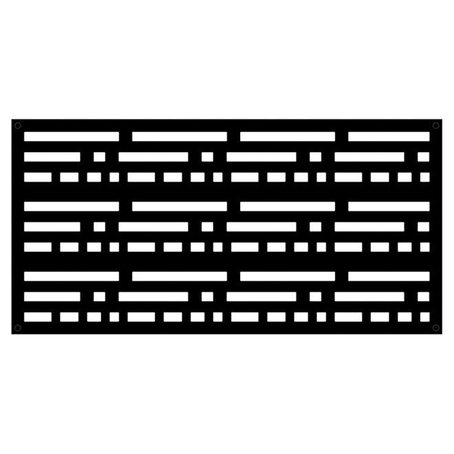 panneau d coratif d 39 ext rieur morse 2 39 x 4 39 noir rona. Black Bedroom Furniture Sets. Home Design Ideas