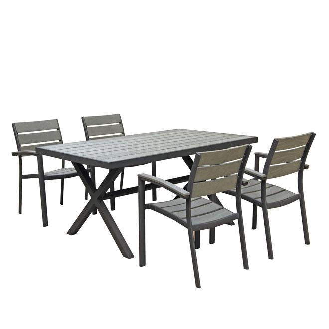 5 piece patio set rona for Table extensible exterieur