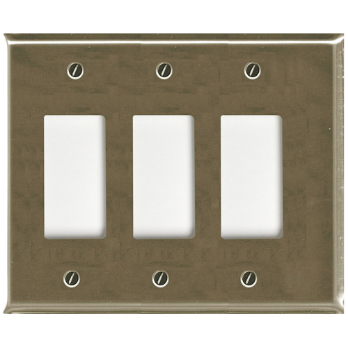 Triple Rocker Wall Plate