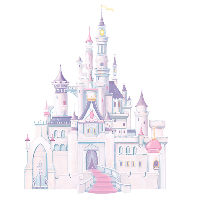 Appliqu mural autocollant ch teau disney rona for Image chateau princesse