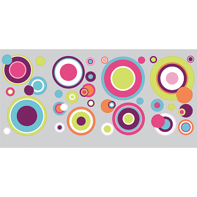 """Crazy Dots"" Vinyl Wall Decals - Multi-Colour"