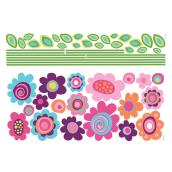 Peel and Stick Giant Wall Decals - Flower Stripes