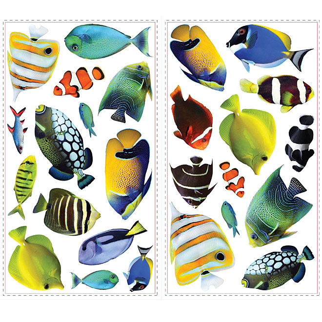 Peel and Stick Wall Decals - Fish with Lenticular Port Hole