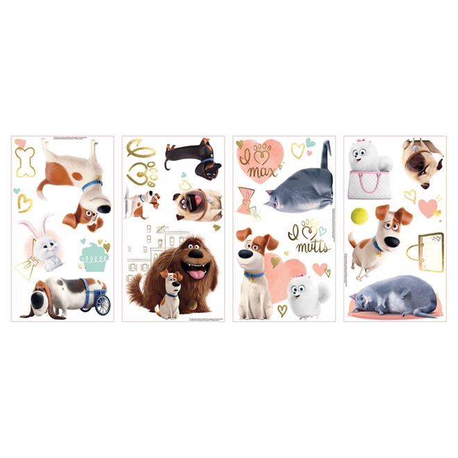 Wall Decal - The Secret Life of Pets - 23 Pieces