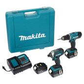 Set of 2 Cordless Tools - 18 V Lithium-ion