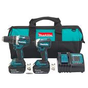 18V Cordless Hammer Drill and Impact Driver Set - 6 pieces