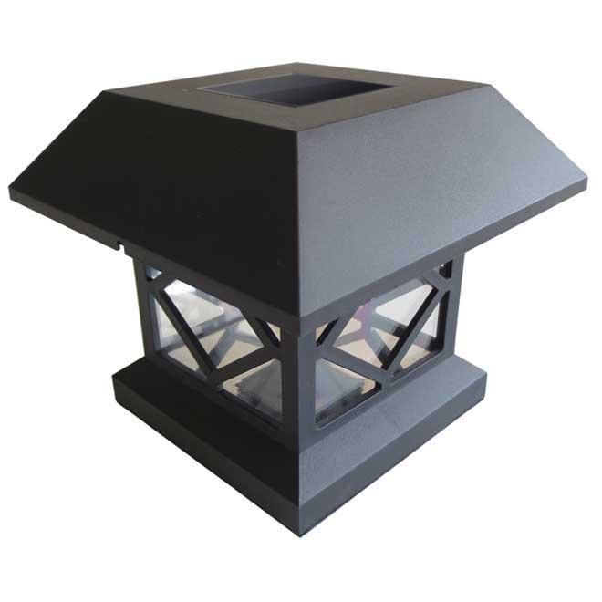 ens de 4 luminaires solaires pour poteaux rona. Black Bedroom Furniture Sets. Home Design Ideas