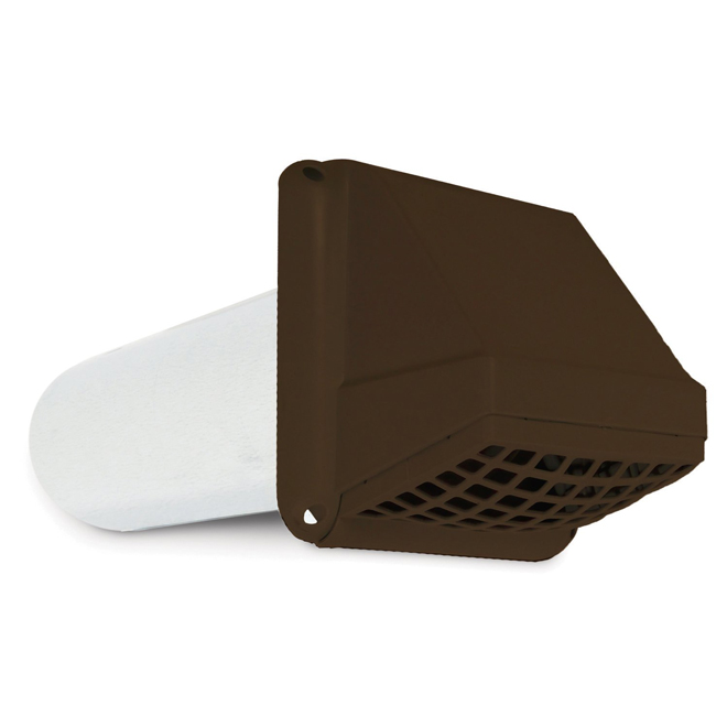 "Preferred 4"" Brown Plastic Vent Hood"