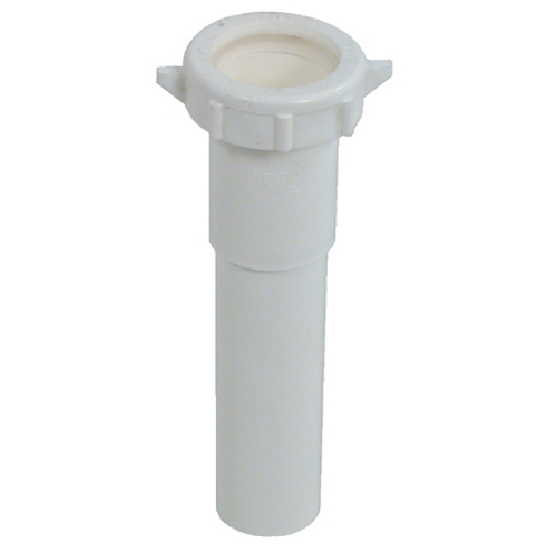 "Tube Extension - Plastic - 1 1/4"" x 6"" - White"