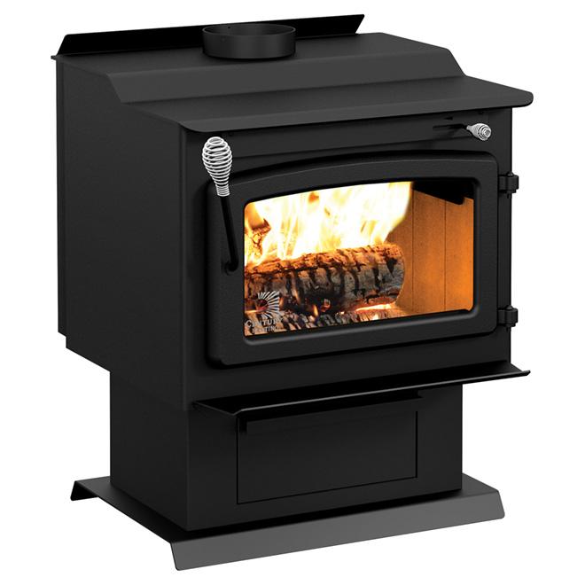 po le bois avec ventilateur 75 000 btu heure m tal. Black Bedroom Furniture Sets. Home Design Ideas