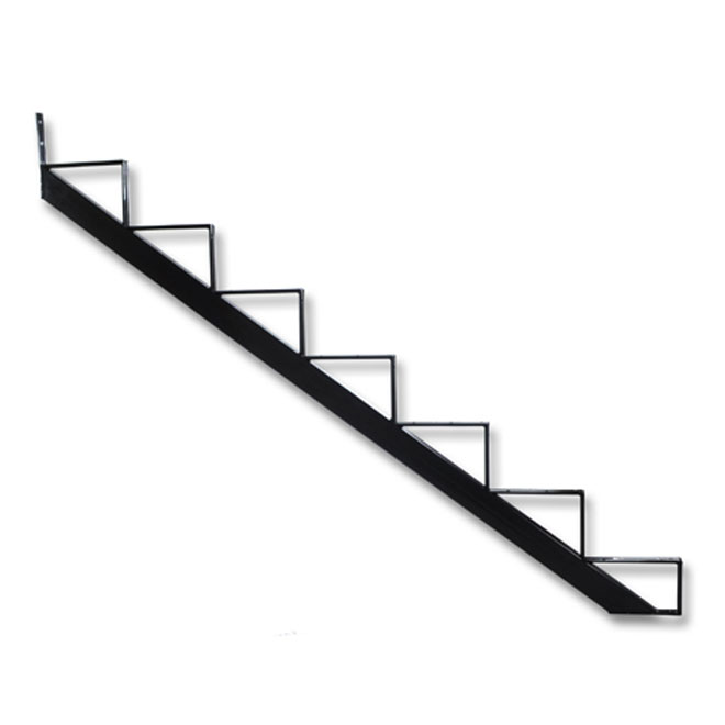 limon d 39 escalier de 7 marches noir rona