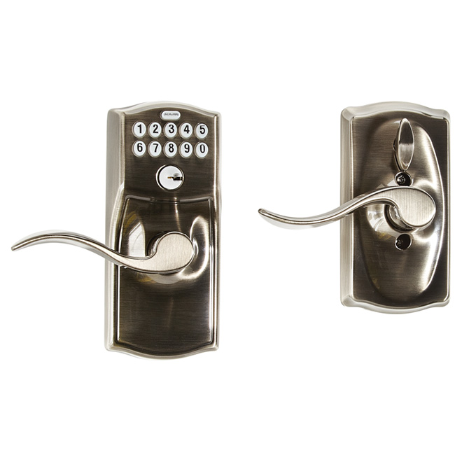 """Camelot/Accent"" Keypad Lock - Antique Pewter"