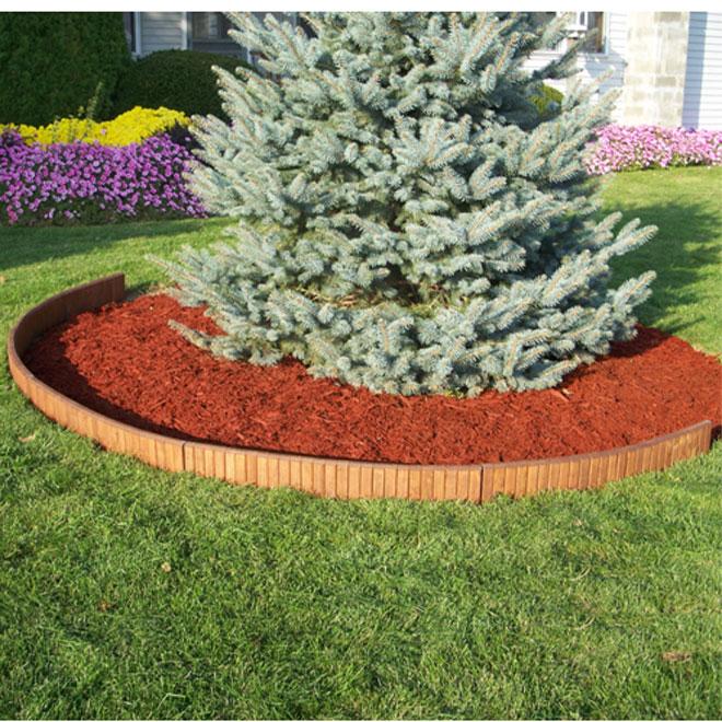 Edging   3 Ft Wooden Lawn Edging