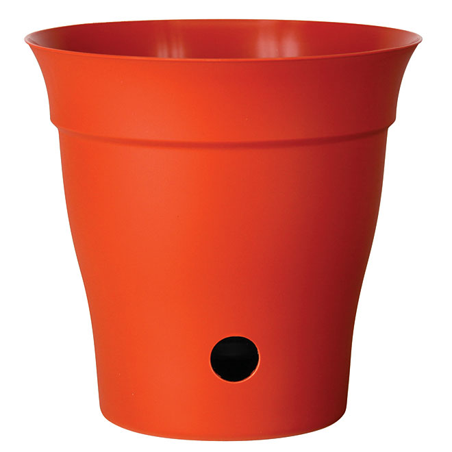 """Contempra"" Pot with inside saucer - Orange"