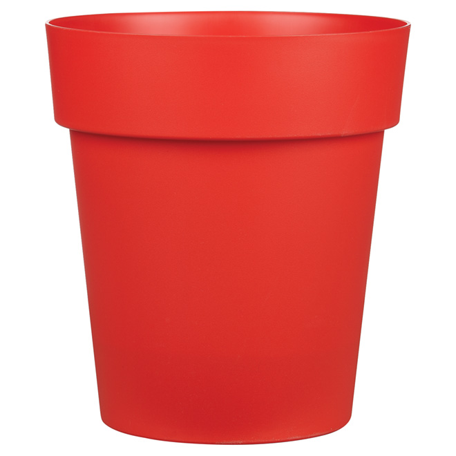 """Viva"" Plastic Planter - 13"" x 14.5"" - Flat Red"