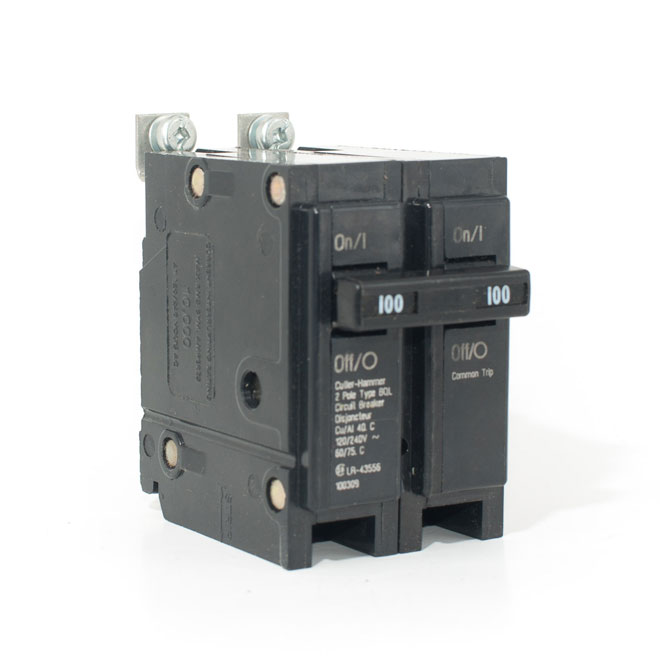100 A/2P Bolt-On Replacement Breaker