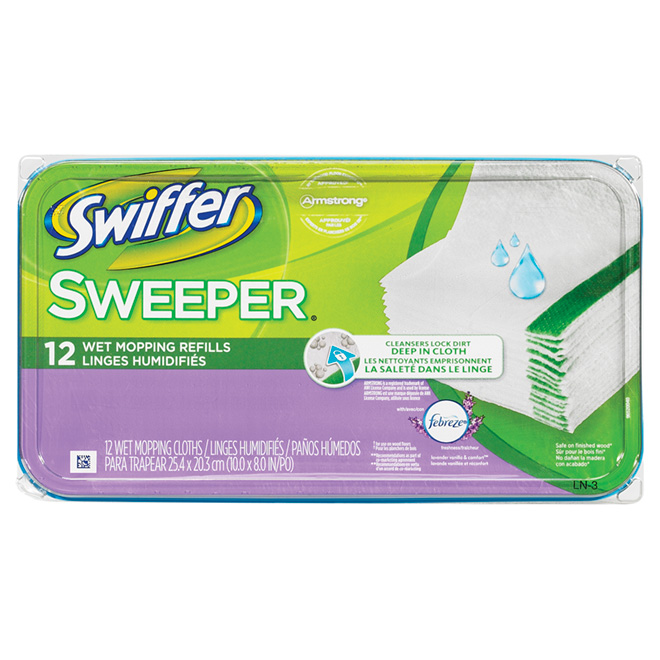 Swiffer Sweeper Wet Mopping Cloth Refill Rona
