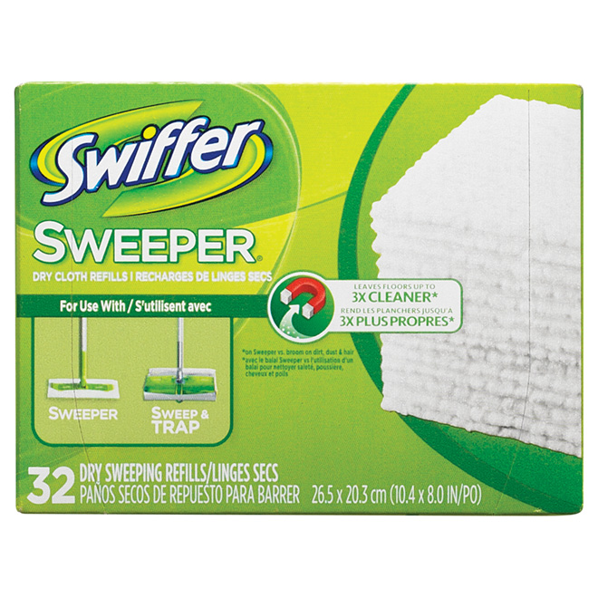 """Sweeper"" and ""Sweep and trap"" Refill Cloth"
