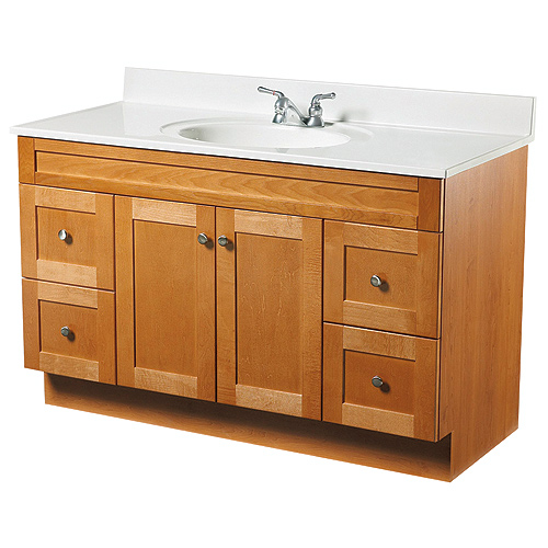 2-Doors and 4-Drawers Vanity