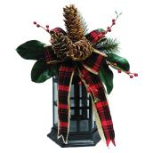 Decorated Lantern - Red/Green/Black - 21