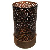 Candle Holder - Metal and Wood - 6.12