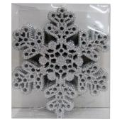 Set of 10 Tree Ornaments - Snowflakes - 6.75