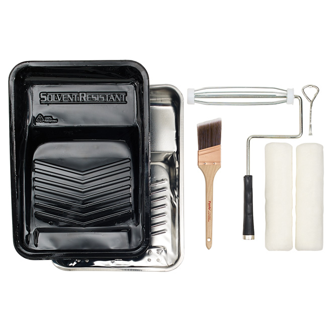 Paintbrush and Roller Kit - 6-Piece