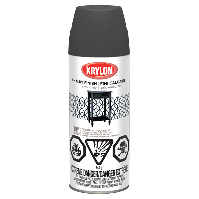 Aerosol Paint - Chalky Finish - Anvil Grey