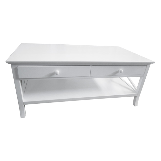 2-Drawer Coffee Table - White