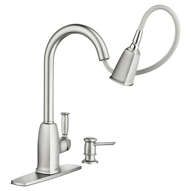 Wellsley 1-Handle Kitchen Faucet - Stainless Steel